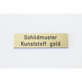 Schild mit Gravur ab 3x1 cm (versch. Farben)