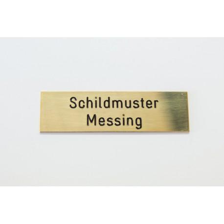 Schild mit Gravur 3x7 cm