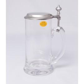 Zimmermann Glaskrug mit Zinndeckel