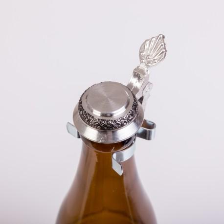 Verschluss für Bierflaschen aus Zinn (Flachdeckel)
