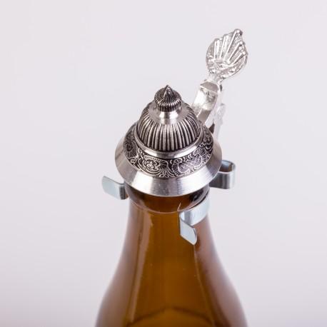 Verschluss für Bierflaschen aus Zinn (Spitzdeckel)