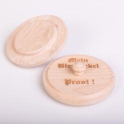 Bierdeckel aus Holz - Ø 95 mm - mit Gravur